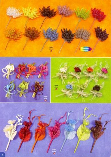 Piquets de fleurs.